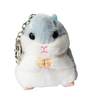 Sleutelhanger hamster licht blauw
