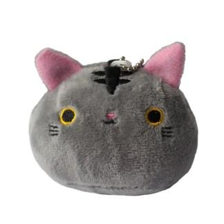 Kawaii katje knuffel grijs