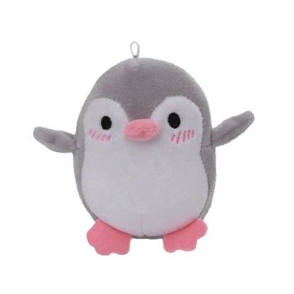 Sleutelhanger pinguïn grijs