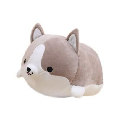 Shiba knuffel grijs