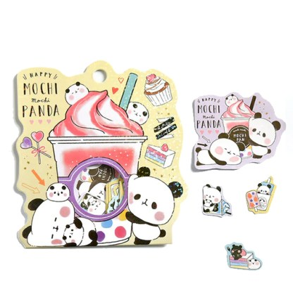 Panda stickers ijsje