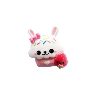 Cupcake konijn flatback