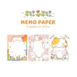 Memo kawaii papier