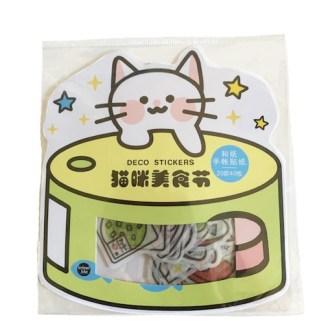 Kat in blik stickers