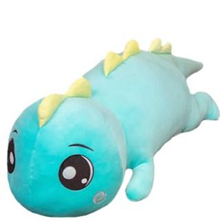 XL Salamander pluche blauw 80 cm