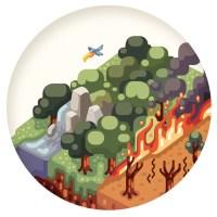 Ilustrações climáticas por Raul Aguiar