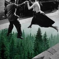 Foto-Colagem Vintage com Elementos Naturais