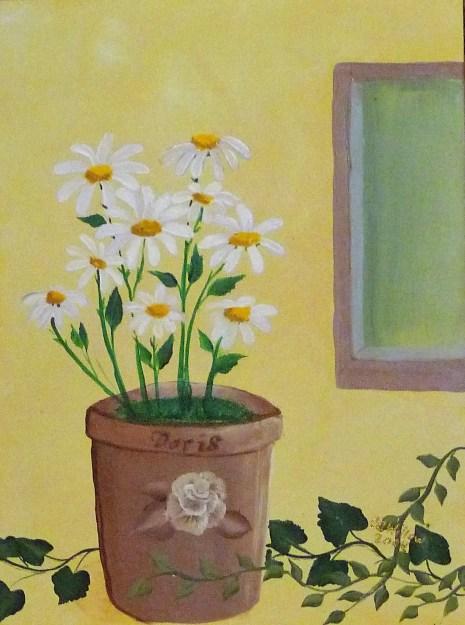 Doris'es Daisies acrylic
