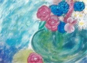 Green Vase Mixed media