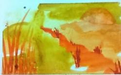 Marshland watercolor