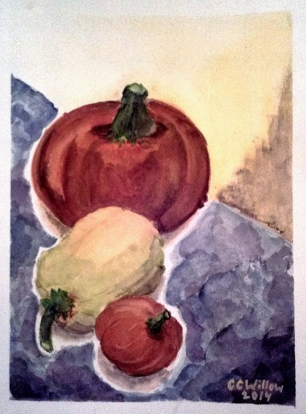 Three Gourds watercolor