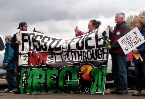 """Fossil Fuel Not Through Oregon"""