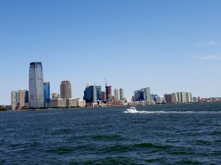 The view from the Ferry to Statue of Liberty Island.