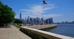 Promenade on Ellis Island.