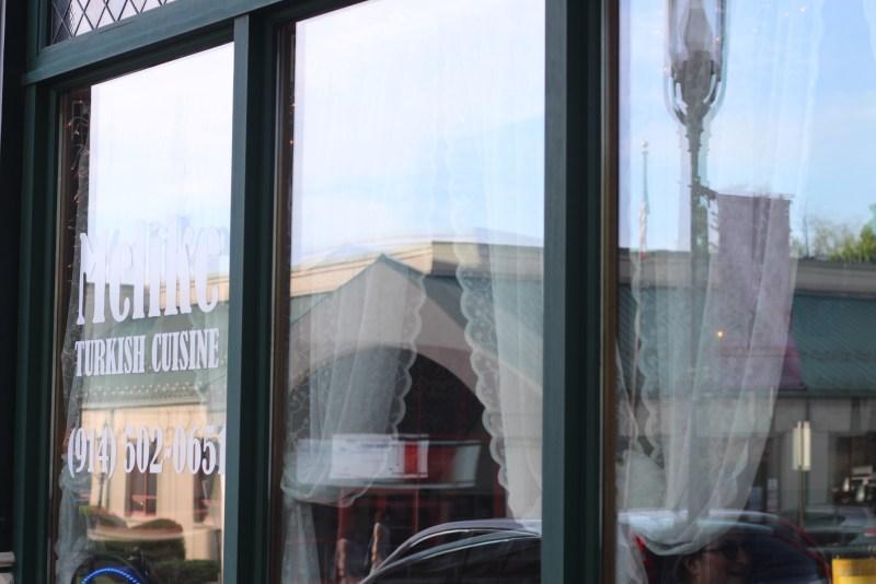 Melike's Turkish Restaurant Ossining New York Window next to melitas gifts