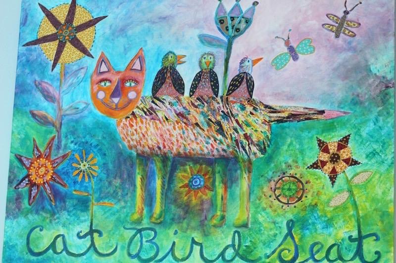 Cat Bird Seat by Nancy Marie Davis for Saving on Electric Bill Post