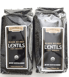 Black Lentils have lots of iron