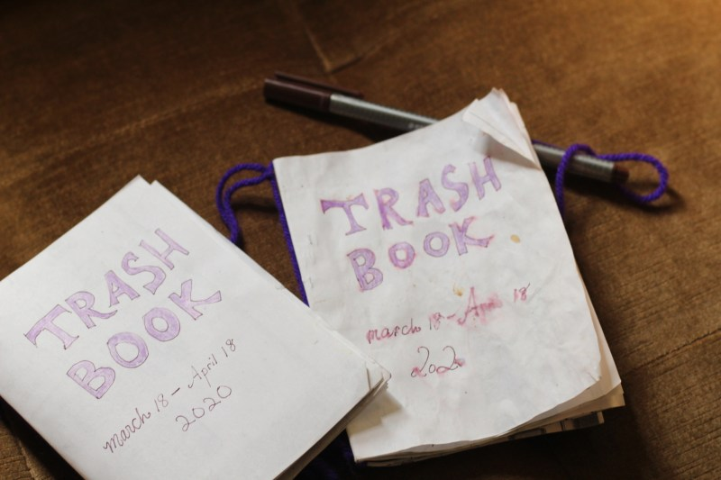 trash book after