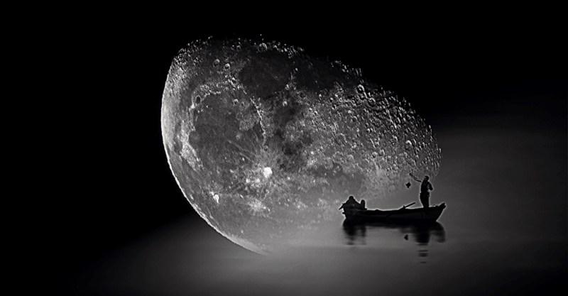 la barca della Luna by Claudia Dea, photo of late night