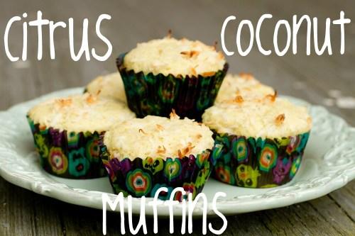 citrus coconut muffins