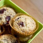 cherry shortcake muffins