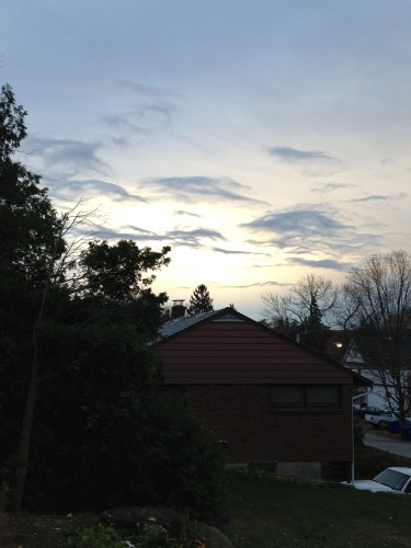 the sky before the storm - poet in the pantry