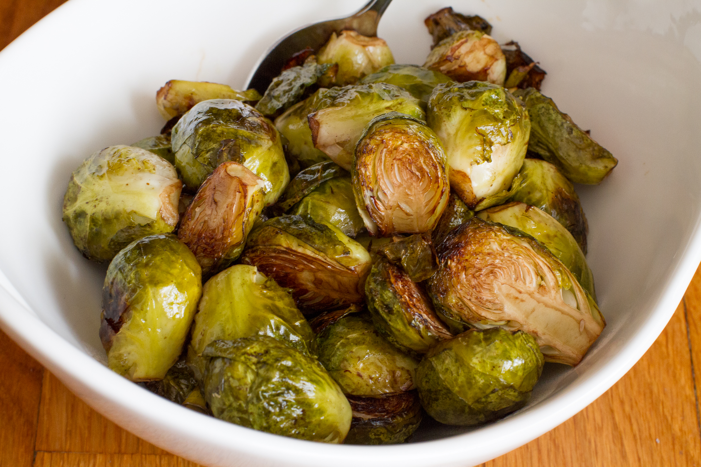 how to roast brussel sprouts cut in half