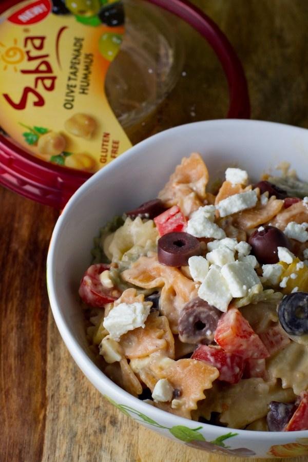 Olive Tapenade Hummus Pasta Salad - poet in the pantry
