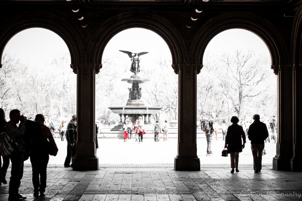 Looking at Bethesda Fountain from Bethesda Terrace in Central Park - Poet in the Pantry