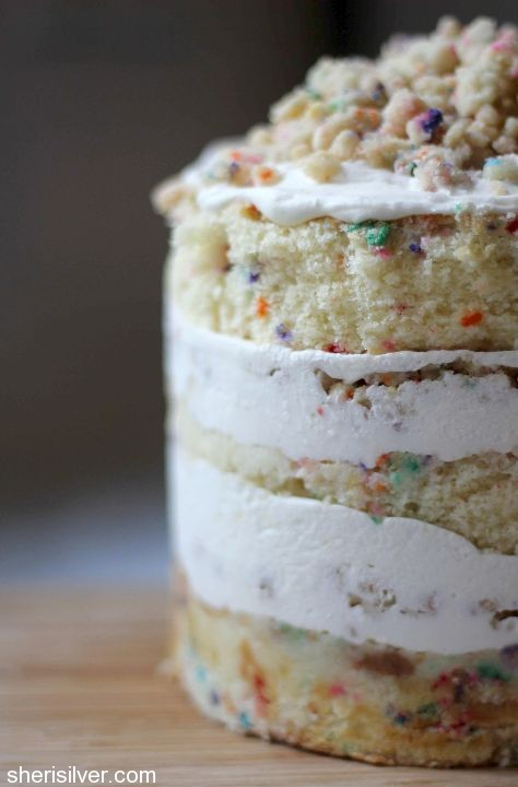 Milk Bar Birthday Layer Cake from Donuts, Dresses and Dirt