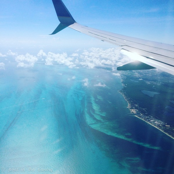 Flying into Cancún, Mexico is always a gorgeous sight!