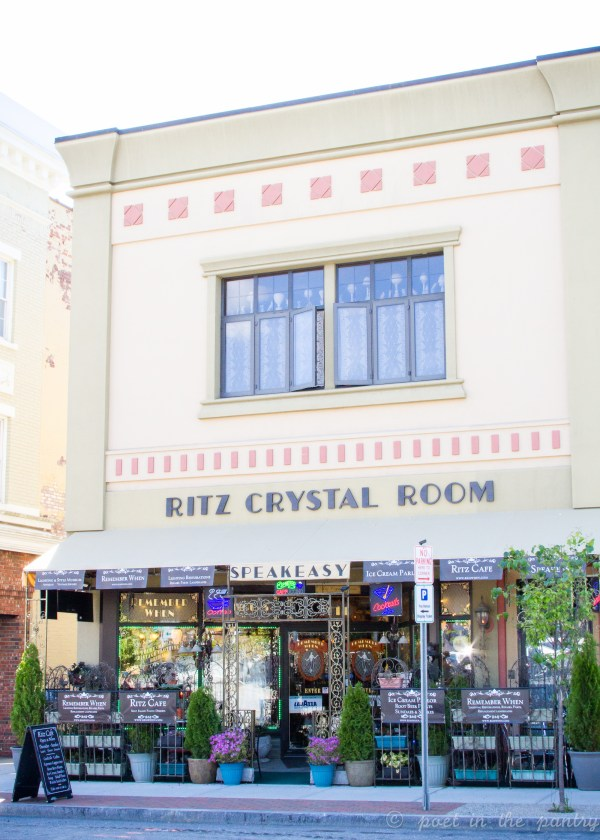 Remember When harbors a secret: a speakeasy restaurant called the Ritz Crystal Room on its second floor!