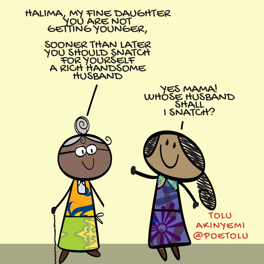 Halima talking back at his mum. Halima by Tolu Akinyemi