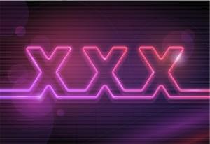 Neon xxx sign
