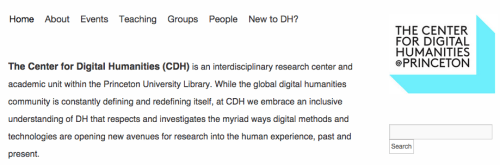 Center for Digital Humanities