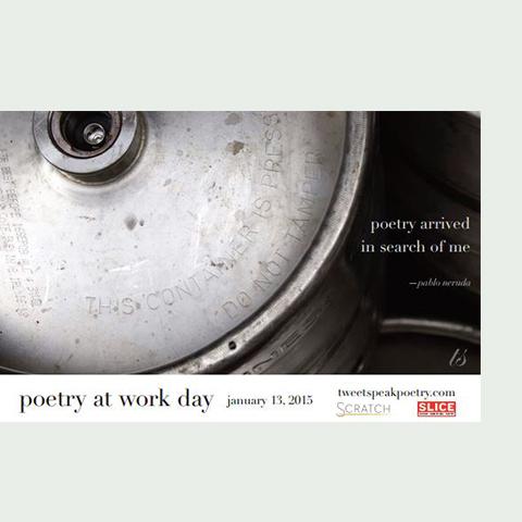 Poetry At Work Day Poster, Tweetspeakpoetry.com