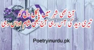 sad poetry in urdu two lines
