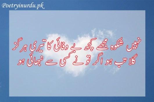bewafa shayari urdu