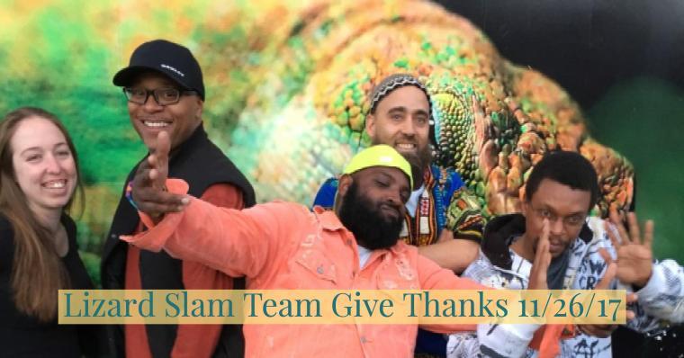 Slam Team Gives Thanks
