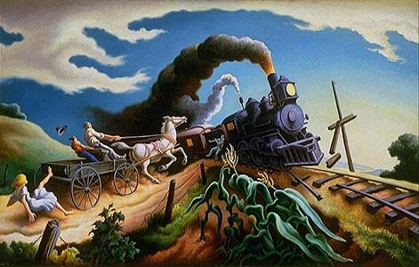 Thomas Hart Benton, The Wreck of the Ole '97 (1943)