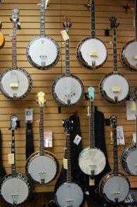 Banjos at Picker's Supply