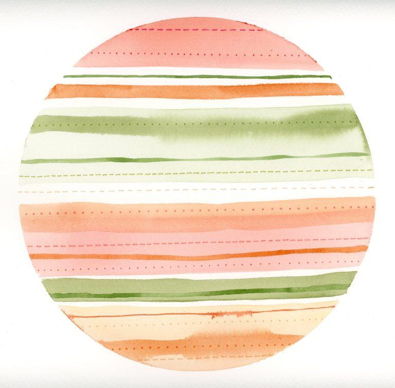 Stripes & Stitches Watercolor 2