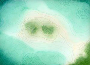 Topography Watercolor & Ink Art