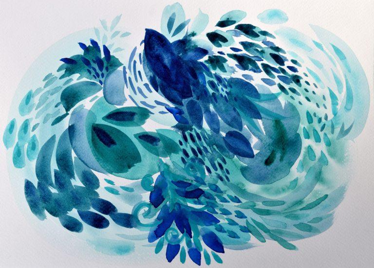 Tidal - abstract watercolor painting