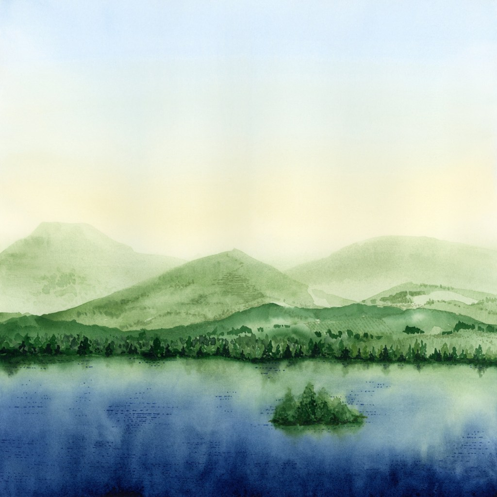 PNW Landscape watercolor
