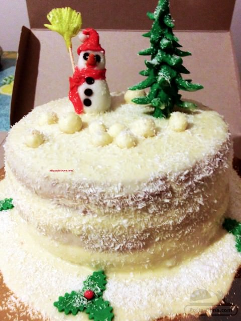 Tort cu ciocolata alba (tort de iarna)
