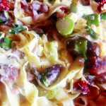 Tagliatelle (taietei) de casa cu hamsii proaspete, rosii uscate si sparanghel