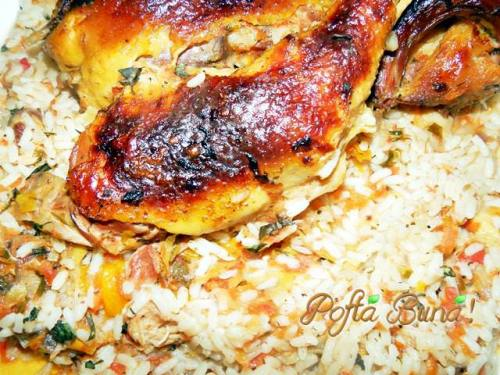 Tocana taraneasca de gaina, cu orez