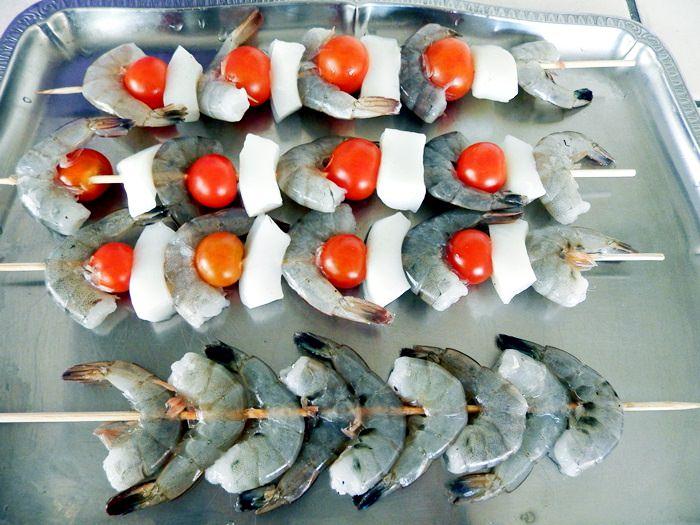 Frigarui din fructe de mare, creveti, calamari, scoici