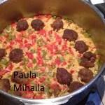 Pilaf bulgaresc cu chiftelute pufoase (de Paula Mihaila)